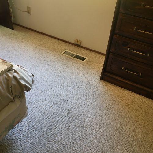 Berber carpet after