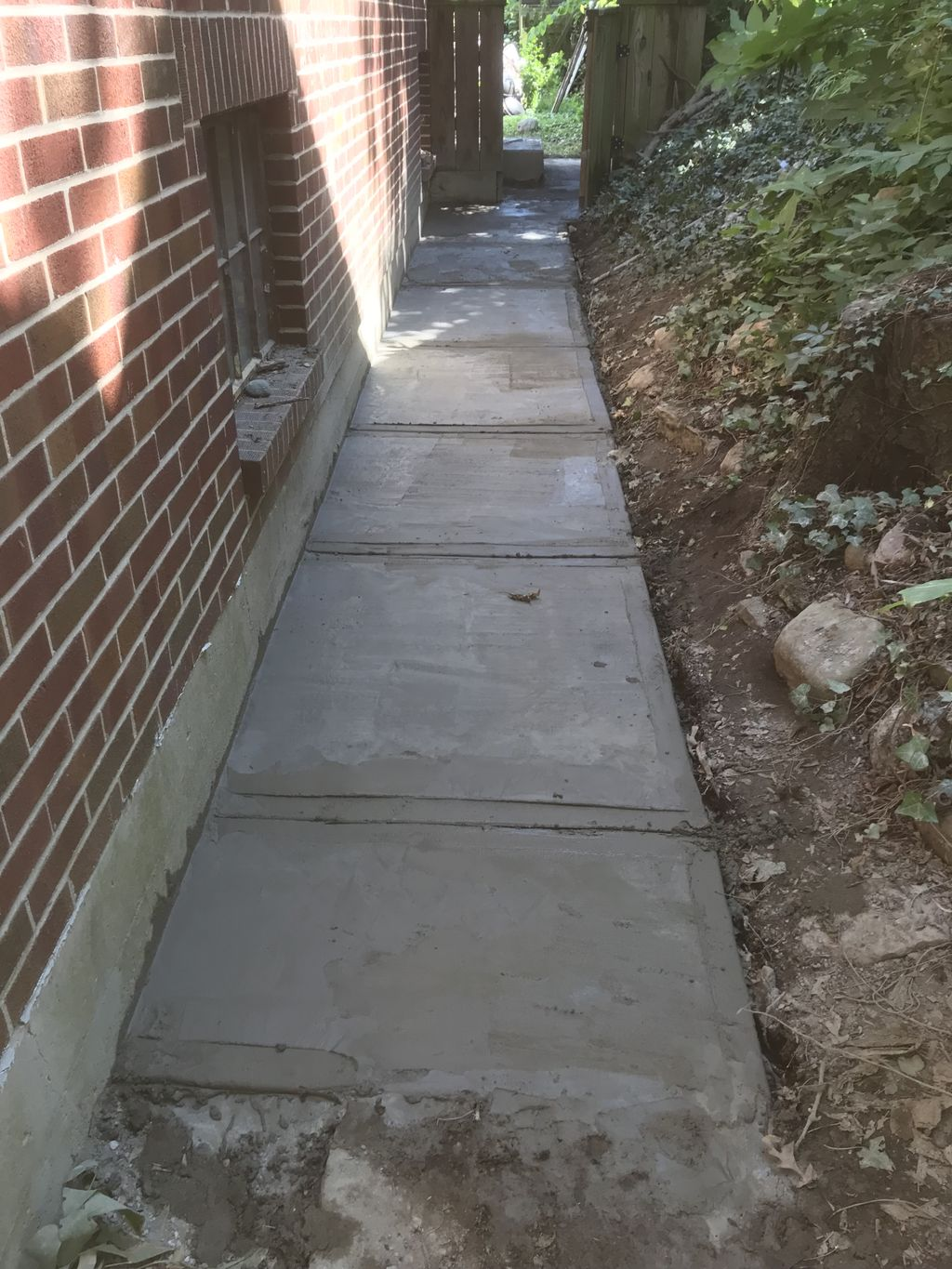 Sidewalk and back porch replacement