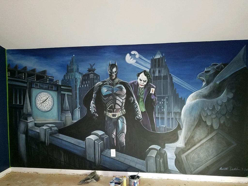 Batman-Joker-Gotham City Mural 2020