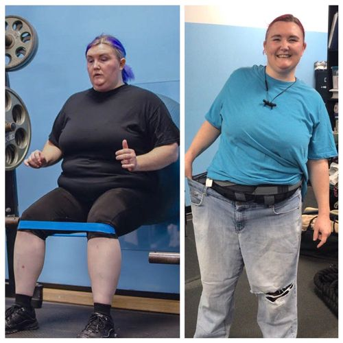 Lucy put in the work in AND out of the gym and has lost 70 lbs and counting!! 🙌🏼💪😁