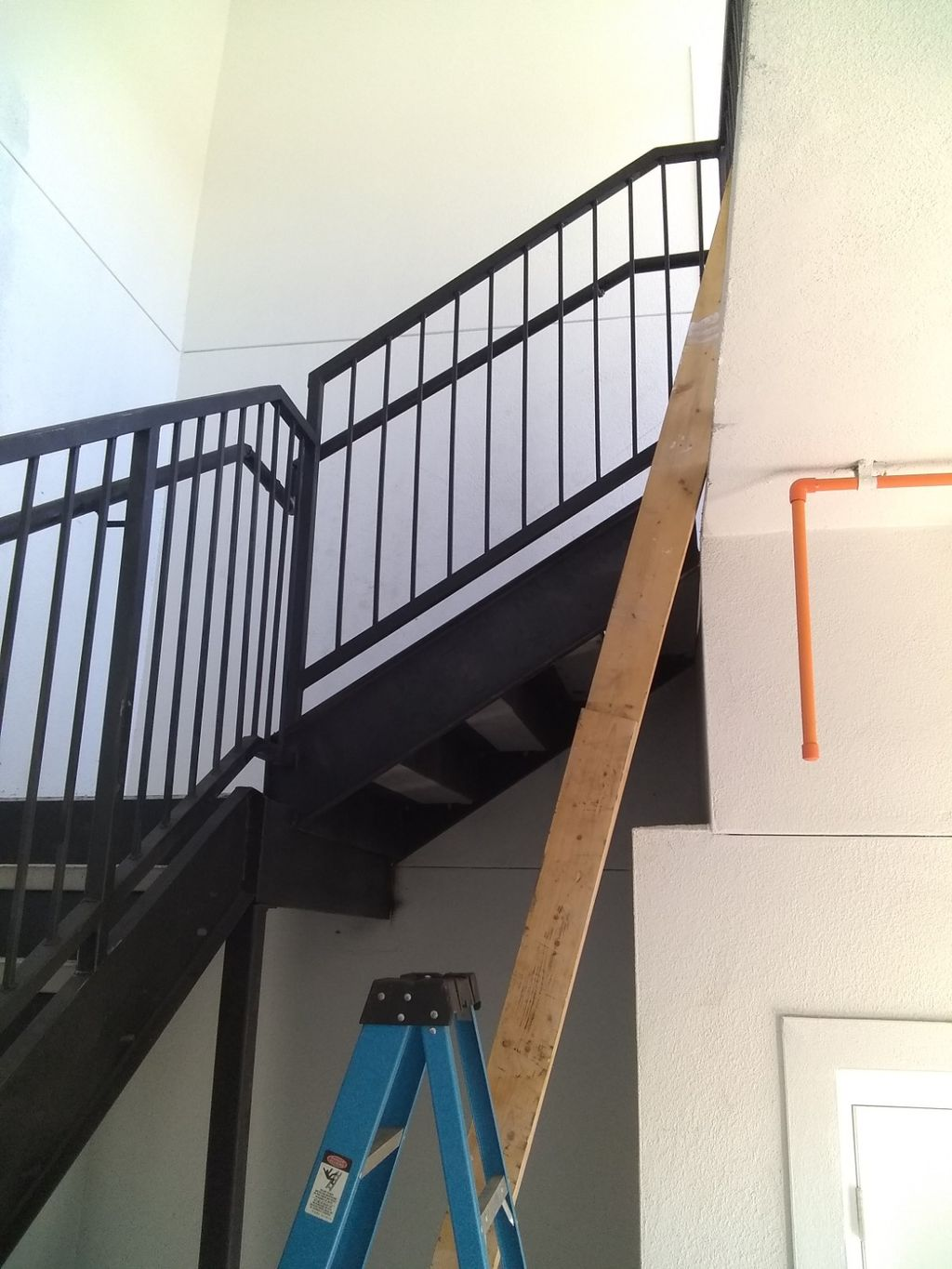 Stairs and railing installation