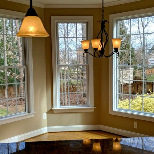 kitchen dining room we painted in the spring