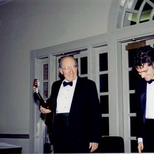 Charlie Byrd came and played with at my senior recital in college!