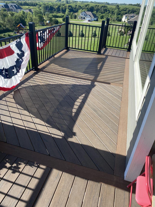 Custom two tone composite deck