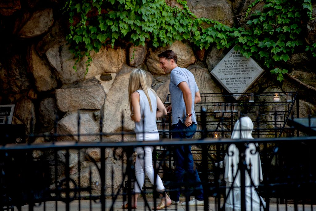 Proposal, Notre Dame Grotto