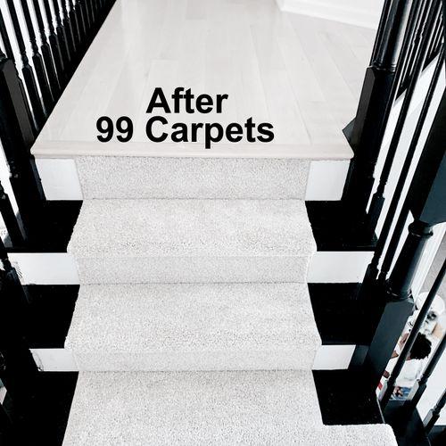 Custom carpet runner by 99 Carpets.