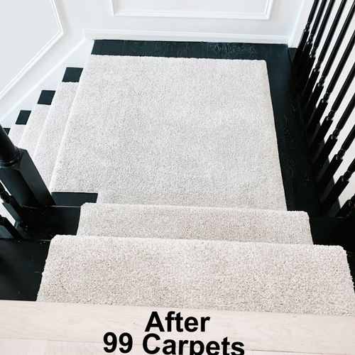 Carpet runner done by 99 Carpets.