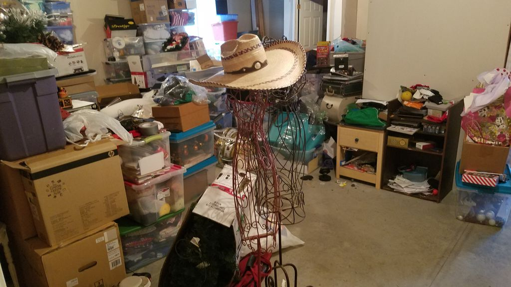 Basement Declutter Readying For Move