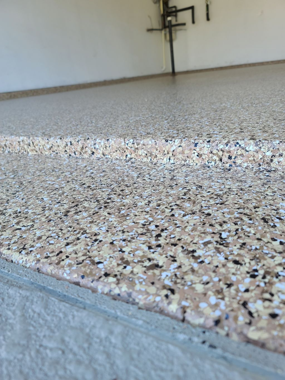Garage floor installed