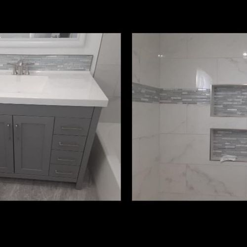 Bathroom renovation with beautiful finished silver details