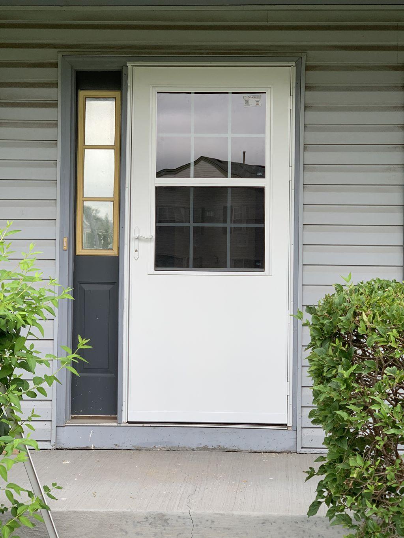 Storm door install- 2020