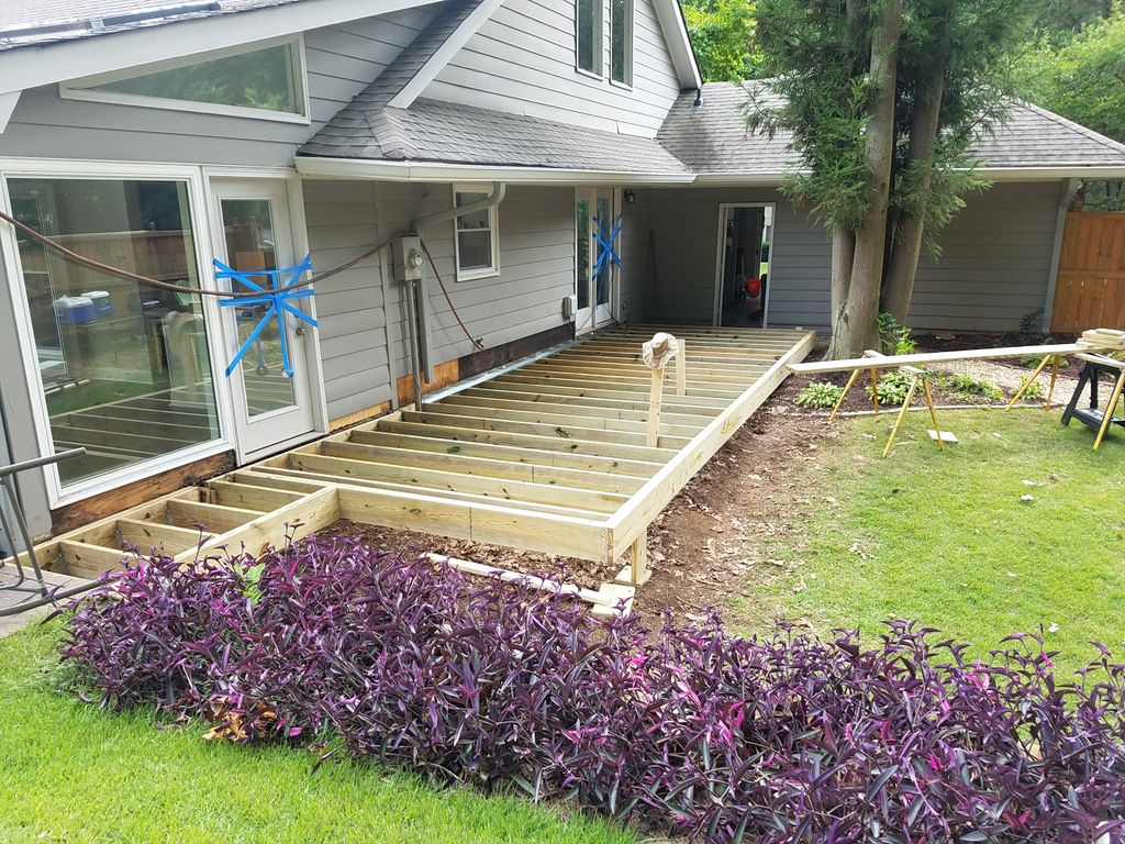 New 330 sqft deck with cable handrail