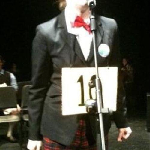 "Me as ""Logainne Schwartzandgrubiniere"" in The 25th Annual Putnam County Spelling Bee, NYC 2010"