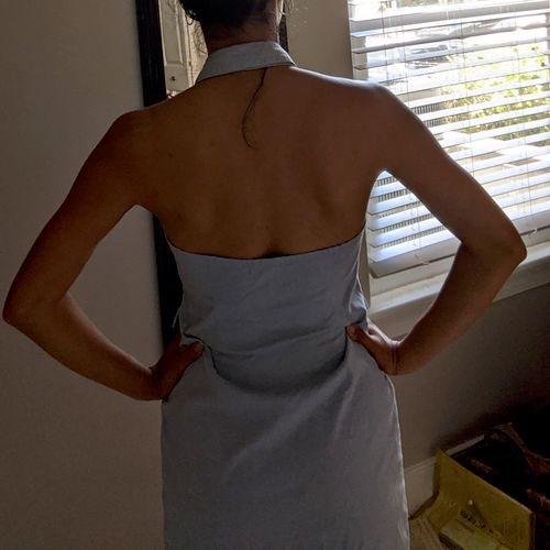 Restyled from long sleeve dress (back)