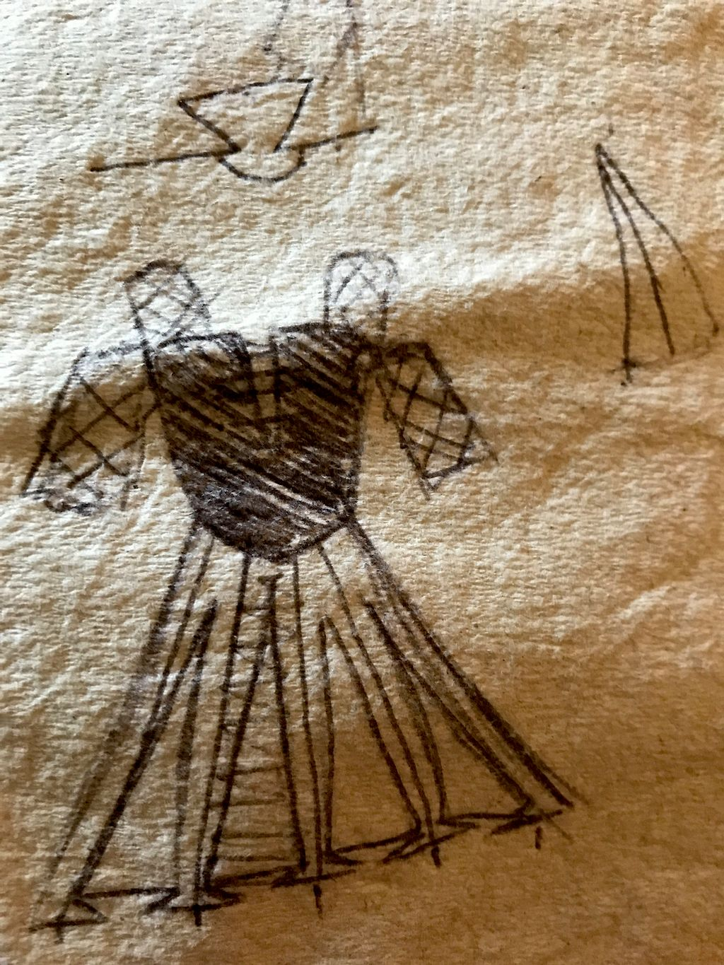 Making a dress from a drawing