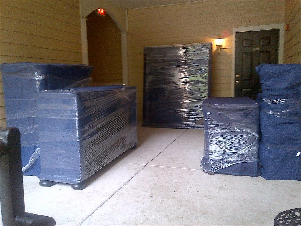 Moving big couch from garage to upstairs