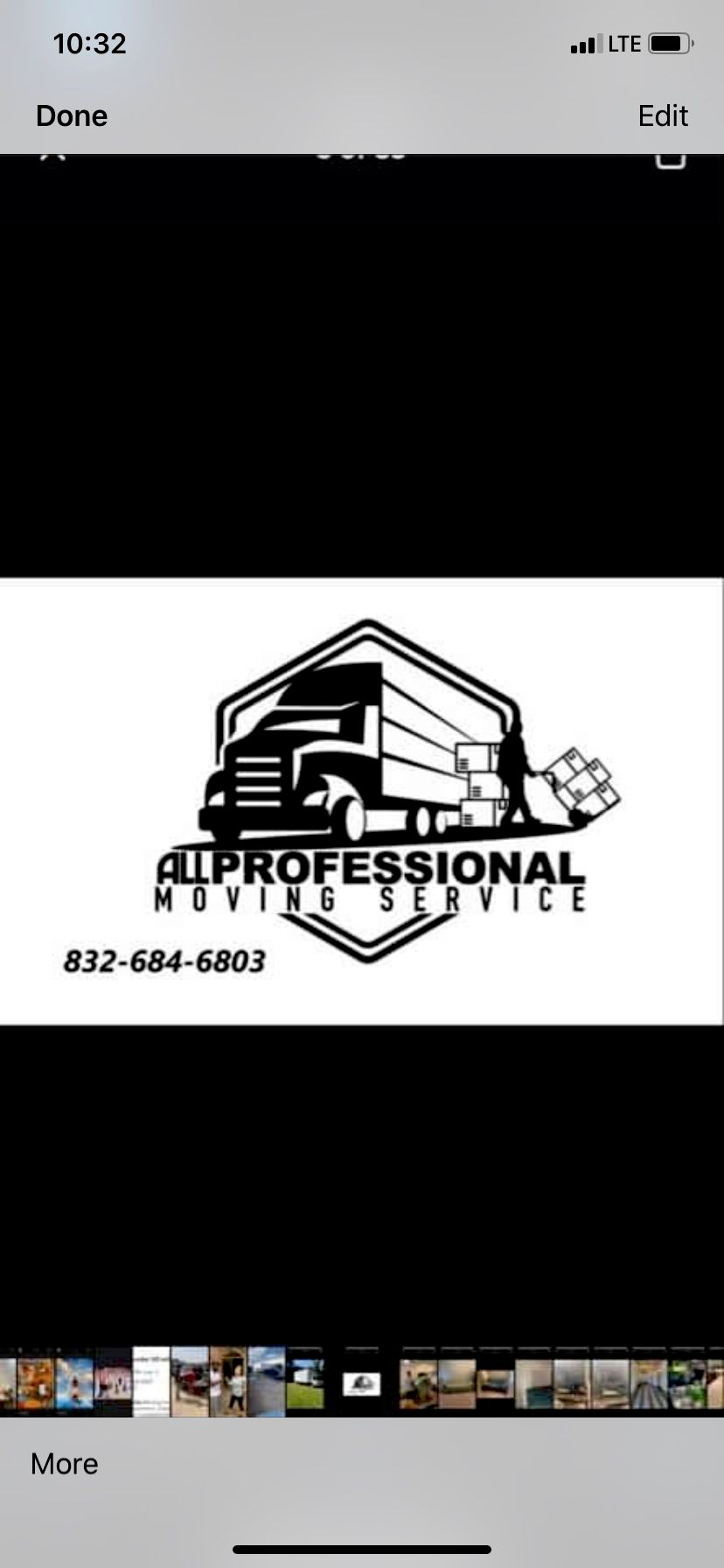 All professional moving services