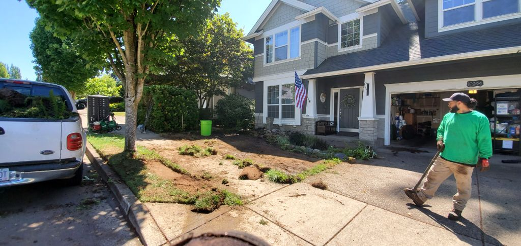 NEW SOD, BARK and RIVER ROCK