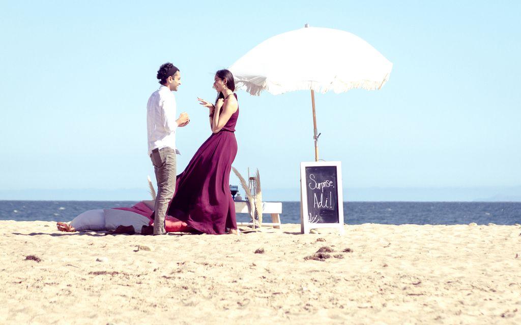 Surprise Beach Engagement Photoshoot