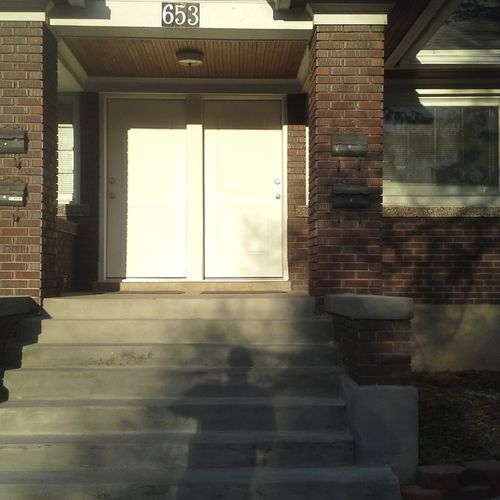 2 exterior doors trimmed out