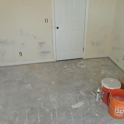 drywall and mud