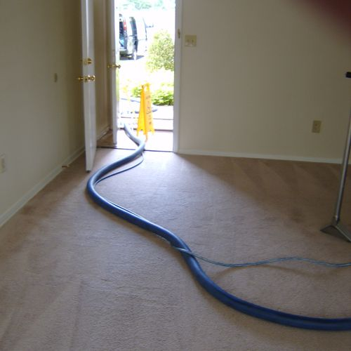 Only the tools and hose enters