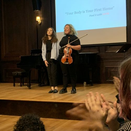Collaboration concert with Galiya Zhangbyrshy, Contemporary theather student. Boston, Ma.