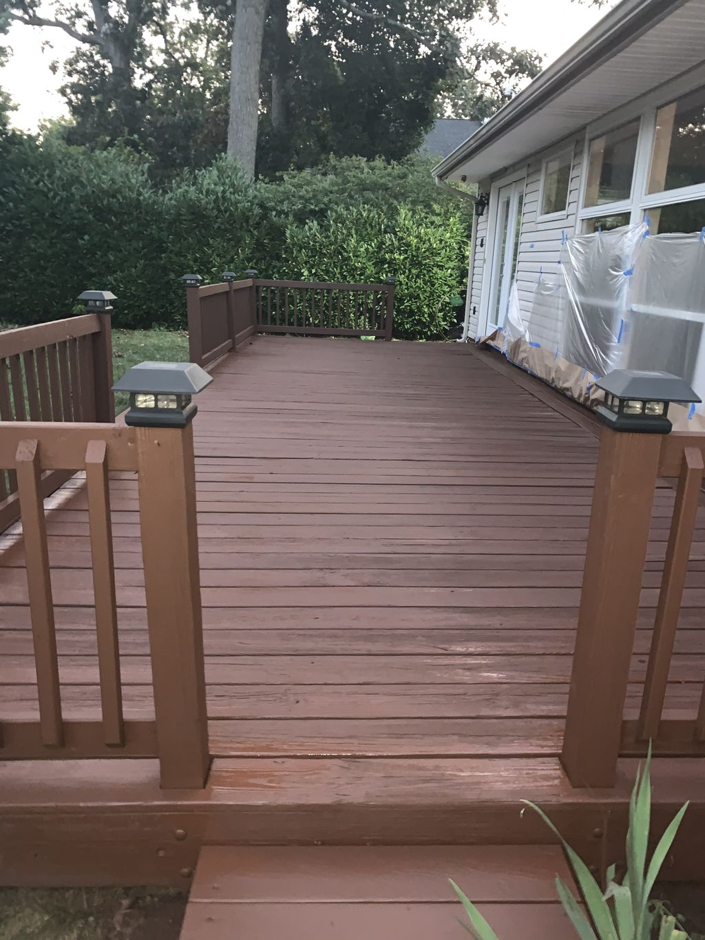 Deck refinished