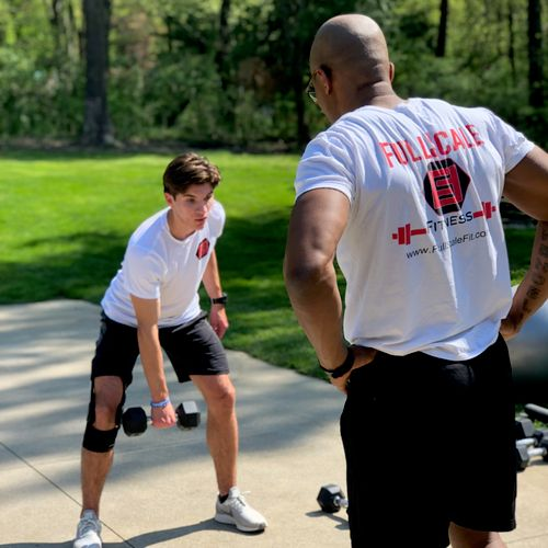 Sport specific training - Our client is prepping for soccer season and ACL rehab work.