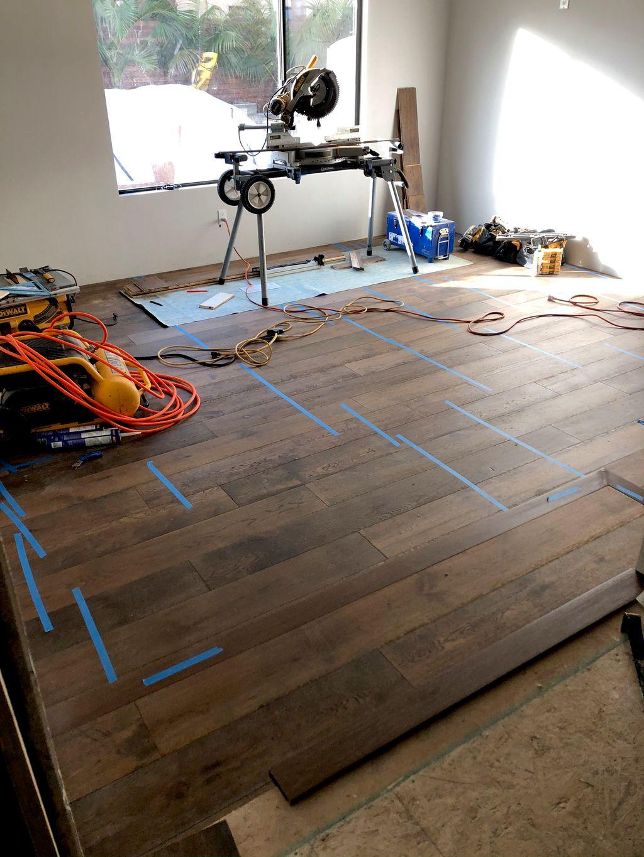 Engineered wood install