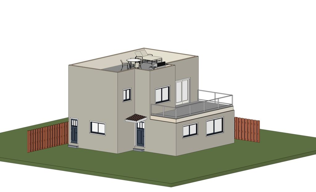 Two Story ADU with Rooftop Seating