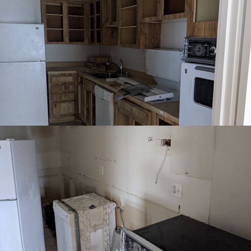 Cabinet and countertop removal