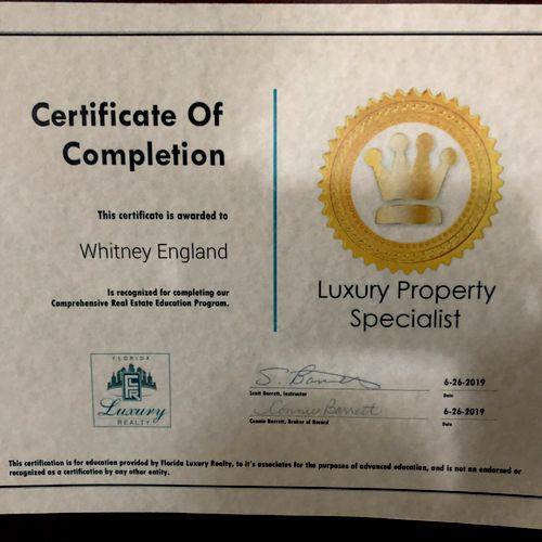 Luxury Property Specialist
