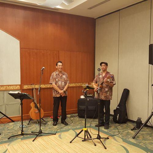 Baron and Ron at Hilton Waikiki.