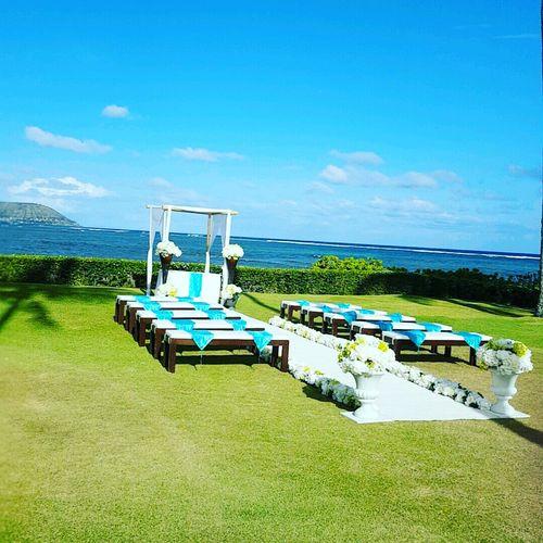 Wedding ceremony in Kahala, Oahu
