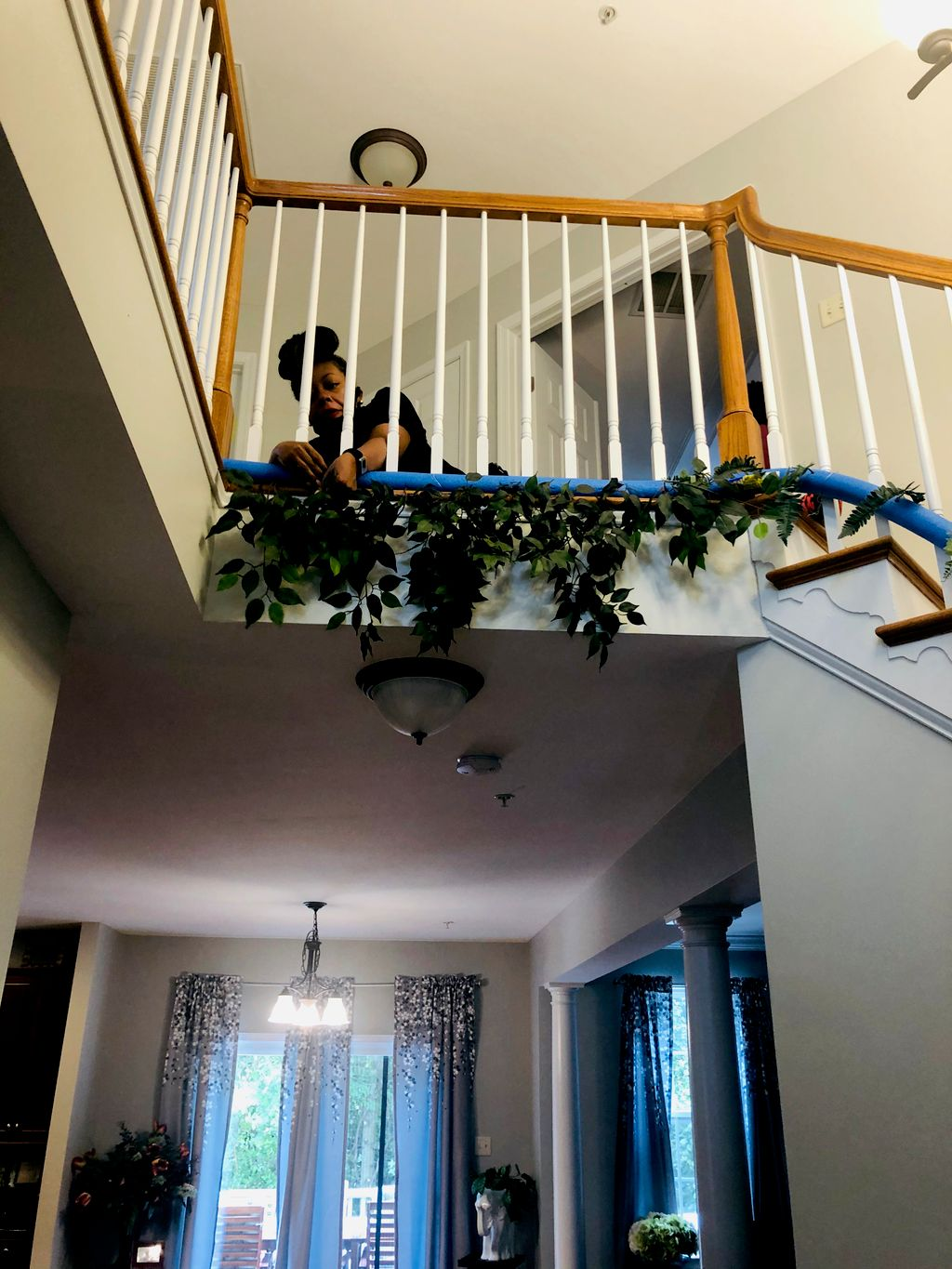 Floral staircase design