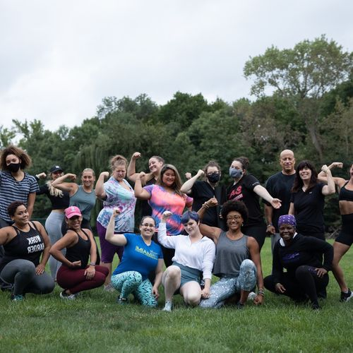 Summer fitness event! Had a blast with this crew, they truly inspire me!