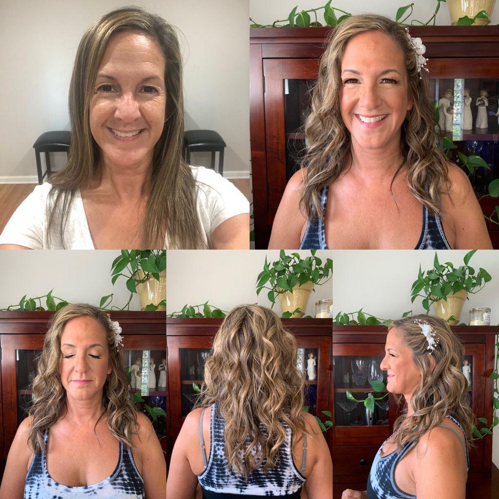 Bride Natural Glam and Hair