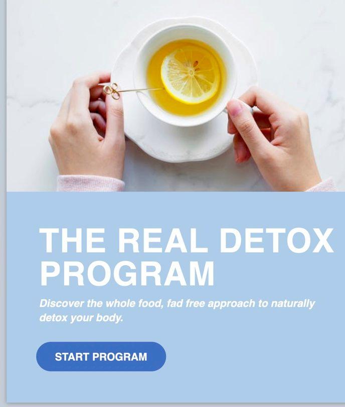 The detox Program, 4 weeks of detox