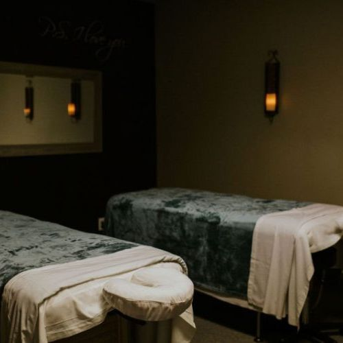 Enjoy a couple's massage with a loved one or friend