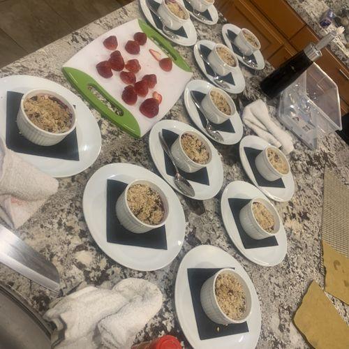 Plated desserts!