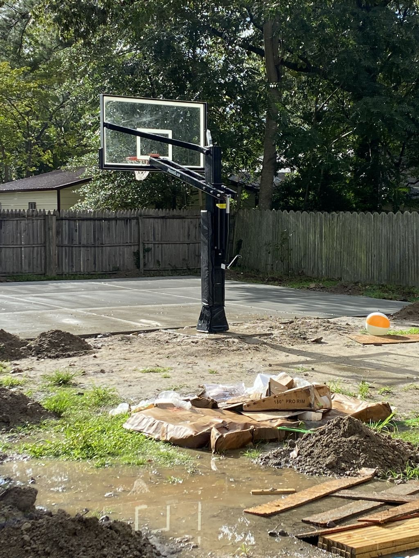 In ground hoop  Basketball hoop