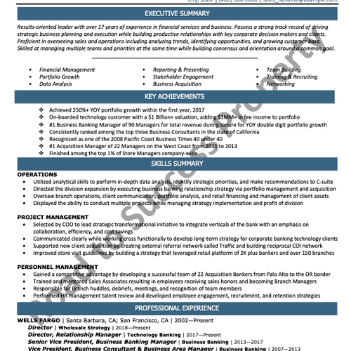 Example of a Skills Resume