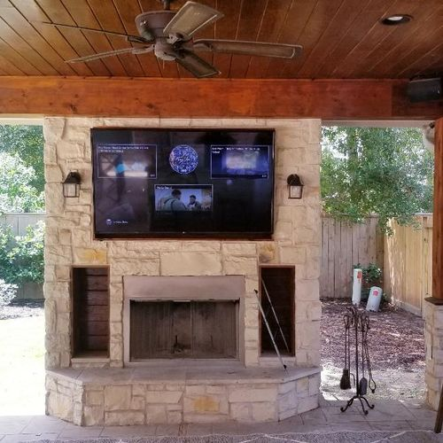 Outdoor patio TV and Surround