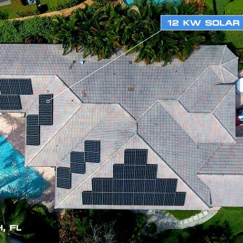 12KW Solar Electricity in Boca Raton, FL