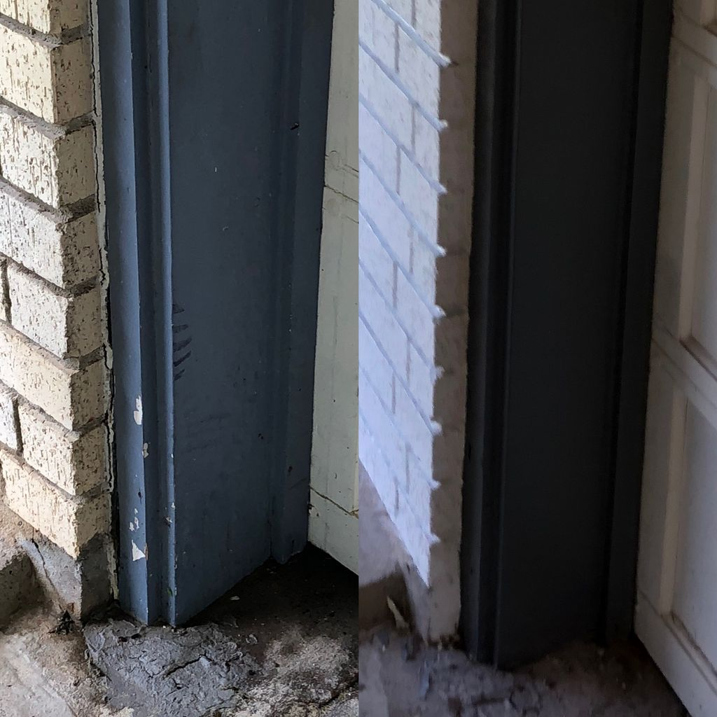 Soffit Repair, and Painted Brick