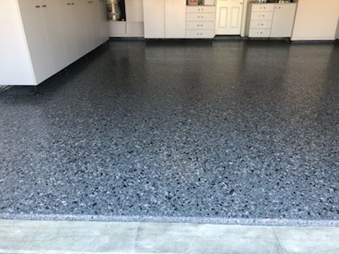 poly poly flake floor