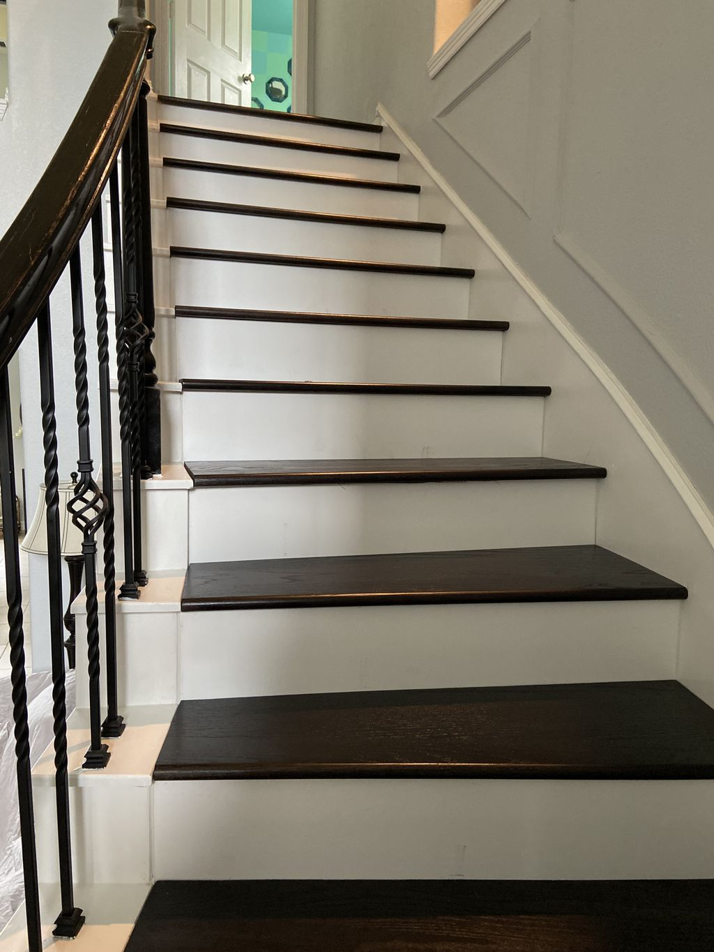 Carpet stairs converted to Hardwood stairs