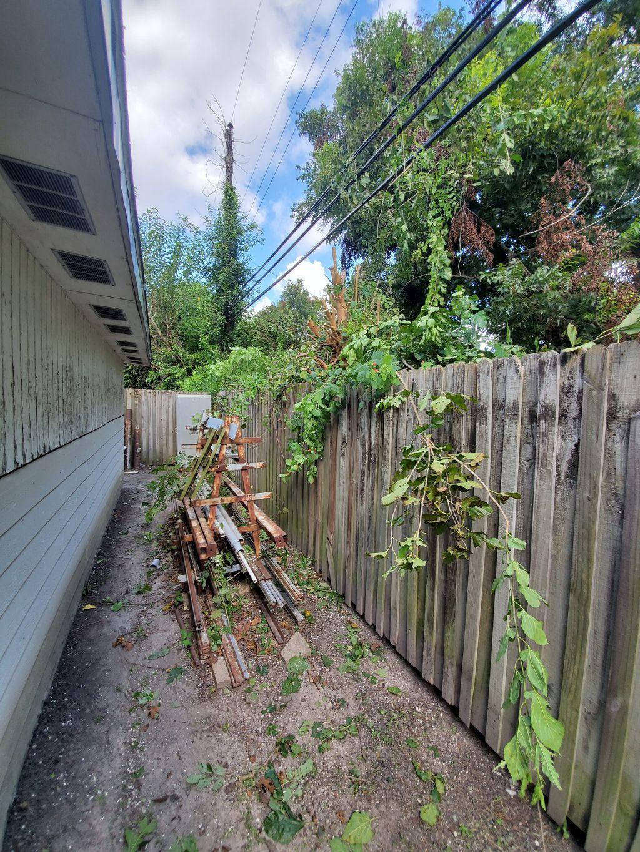 quick trim on fence line