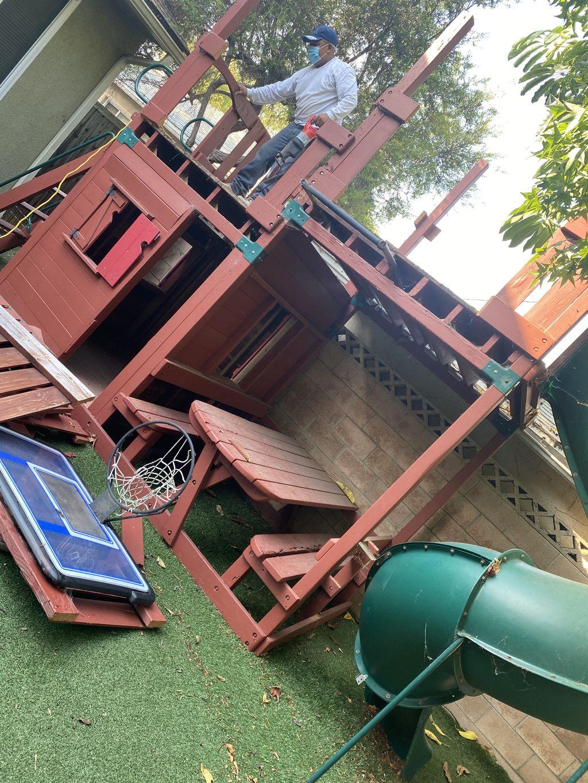 Playground demolition